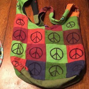A hippie peace bag